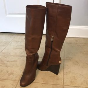 Coach Della wedge knee high boot size 9
